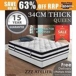 Zzz Atelier Black Label Queen Mattress (34CM) $227.05 Delivered @ Zzz Atelier eBay