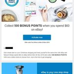 Collect 500 Bonus Flybuys Points When You Spend $XX or More in One Transaction on eBay (Some Exclusions Apply)