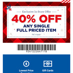 40% off any Full Priced Item (In store Only) @ Spotlight (VIP Card Req.)