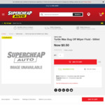Turtle Wax Bug Off Wiper Fluid 500mL $0.50 + Delivery at Supercheap Auto