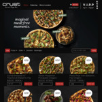 Crust Pizza - Spend $30 & Receive Complimentary Herb & Garlic Sourdough and 1.25L Drink