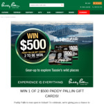 Win 1 of 2 $500 Gift Vouchers from Paddy Pallin