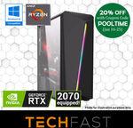 Ryzen 5 2600 RTX 2070 120GB $1199.20 + BFV, Intel i7 8700 RTX 2080 240GB 16GB + 2 Games (BFV & Anthem) $1919.20 @ eBay Techfast