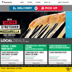 3 Traditional Pizzas + Garlic Bread + 1.25L Drink $26.95 Pick up @ Domino's