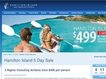 Hamilton Island 5 Day Sale, 3 Nights Including Airfares from $499 per person