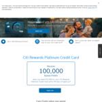 100,000 Bonus Citibank Points with Citi Rewards Platinum Credit Card (Spend $3000+ in 90 Days, $49 Annual Fee)