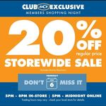 20% off Storewide for Club Members @ BCF