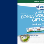 Claim $5-$100 Woolworths Gift Card if Purchasing 3 Philadelphia Products in 1 Transaction @ Woolworths