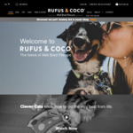 $20 off All Orders (No Minimum Spend) + Delivery @ Rufus & Coco Pet Products