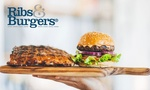 50% off - $5 off $10 or $10 off $20 Spend on Food at Ribs & Burgers @ Groupon