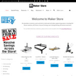 4WD Mobile Robot Platform $26.78, Lead CNC Machine $1347, MiniMill CNC Machine with Stepper Motors $509  + More @ Maker Store