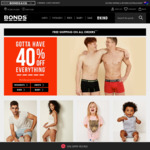 40% off Sitewide + Free Shipping and Returns @ Bonds