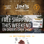 Free Shipping ($40 Min Spend) + Half Price Mango Chilli Jerky 85g $6ea @ Jim's Jerky