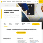 Commbank Ultimate Awards Credit Card - Bonus 100,000 Awards Points (after $5000 Spend). $0 Annual Fee (with $2500 Monthly Spend)