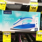 Adesso 2000W Steam Iron - $7.00 at Woolworths