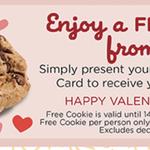 Free Mrs Fields Rewards Cookie for Valentines Day