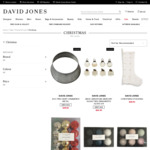 90% off Selected Christmas Trim, Cards, Wrap Start from $0.29 (Discount Applied at Checkout) @ David Jones (C+C)