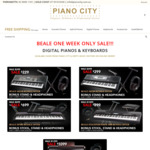 Beale Digital Pianos and Keyboard Bundles from $229 + Free Delivery to Select NSW / QLD Areas @ Pianocity
