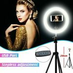 10'' Dimmable LED Ring Light Tripod Stand Selfie Video Photo For Youtube Live $51 + $5 Shipping (15% Off) @ 7-Ezylive eBay