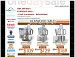 Kenwood Food Processors from $109 - $159 Delivered - Factory 2nds