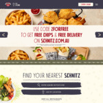Free Chips & Free Delivery with Any Meal @ Schnitz
