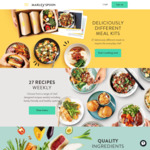 Woolworths Rewards - Marley Spoon Free Delivery and up to 11,000 Points or $30 off Your First Four Boxes
