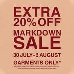 Extra 20% off Sale Garments @ MUJI