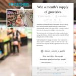 Win a $395 Woolworths Voucher from Together Australia