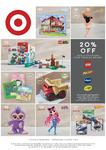 20% off Toys & Stationery from LEGO, Nerf, Vtech, Crayola @ Target