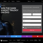 Win 1 of 3 Dark Knight Trilogy DVD Packs Worth $108.81 from Roadshow