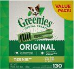 Greenies Original Teenie Dental Dog Treats 1kg (130 Treats) $51.95 ($46.76 S&S) Delivered @ Amazon AU