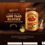 Win 2 Blocks of Whittaker's Bundaberg Brewed Ginger Caramel Chocolate from Whittaker's