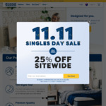 25% off Sitewide @ Ecosa