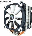 Snowman MT6 6 Heatpipe CPU Cooler w/ 1 Fan US$24.38 (~A$31.67), w/ 2 Fans US$26.58 (~A$34.53) Delivered @ Snowman AliExpress