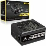 [eBay Plus] Corsair RM750x 80+ V2 Gold Fully Modular ATX PSU $126.65 Delivered @ Harris Technology eBay