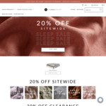 20% off Sitewide & Free Delivery (e.g. Eden Cotton Queen Fitted + 2 Pillow Cases $96 Delivered, RRP $120) @ The Sheet Society