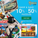 Extra 5% off 2 or More Jigsaw Puzzles + $9.50 Delivery ($0 with $99 Spend) @ Hobbyco