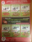 """Pizza Hut - 11"""" Large Classics $4.95, Legends $6.95 Pickup and More"""