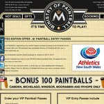 $1 Paintball VIP ENTRY PASSES with Free 100 Paint Balls @ 5 Locations
