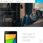 Nexus 7 (2013) 16GB $298.00 and 32GB $338.00 - Wi-Fi Only - JB Hi-Fi