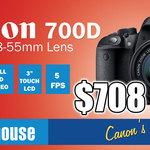 [Syd] Canon 700D 18-55 $708 + Canon 600D 18-55 $549 Sony A58 18-55 $499 + Nikon J1 10-30mm $249