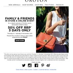 Oroton - Family & Friends 50% off Sale