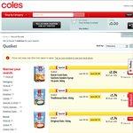 50%+ off: Nudie Juice 2L $3.10, Quaker Oats 500g $1.74, Birds Eye Frozen Veges 500g $1.25 @Coles