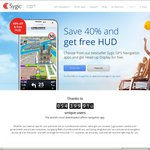 40% off Sygic GPS Navigation for iOS and Android + Free HUD (Eg $69.99 AUD for World + HUD)