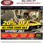 Supercheap Auto 20% off Storewide - This Saturday 4th April Only (No Club+ Membership Required)