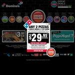 Domino's 3 Pizzas, Garlic Bread and 1.25L Coke from $22.95 Pickup