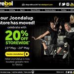 Rebel Sport Joondalup (WA): 20% off (Rebel Active Members Only)