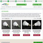 10X 7W B22/E27 LED Light Bulbs @ LED Accessories for $39.90 Delivered