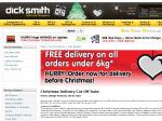 Free Delivery for All Online Orders under 6kg until 7th January 2010 at Dick Smith Online