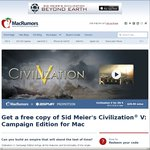 [MAC/OSX - FREE Save $37.99] Sid Meier's Civilization® V: Campaign Edition for Mac